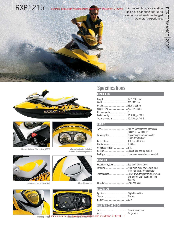 Sea-doo - RXP 215 by Marine Mega Store Ltd - issuu