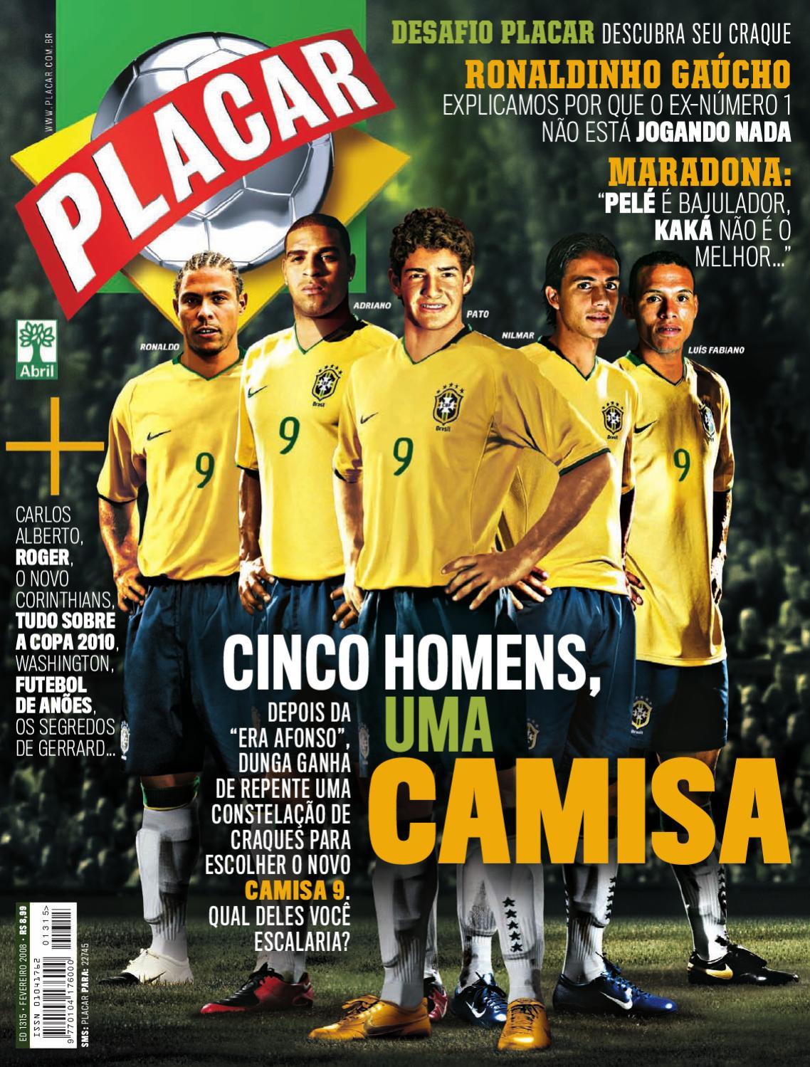Placar Fevereiro 2008 by Revista Placar - issuu 4ac4249969c20