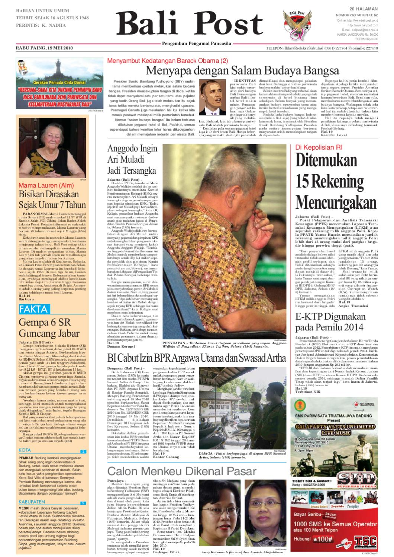 Edisi 19 Mei 2010 Balipostcom By E Paper Kmb Issuu Jam Tangan Qampampq A170 Original Bergaransi