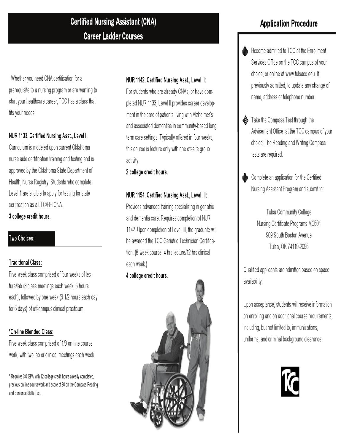 Cna Brochure By Tulsa Community College Issuu