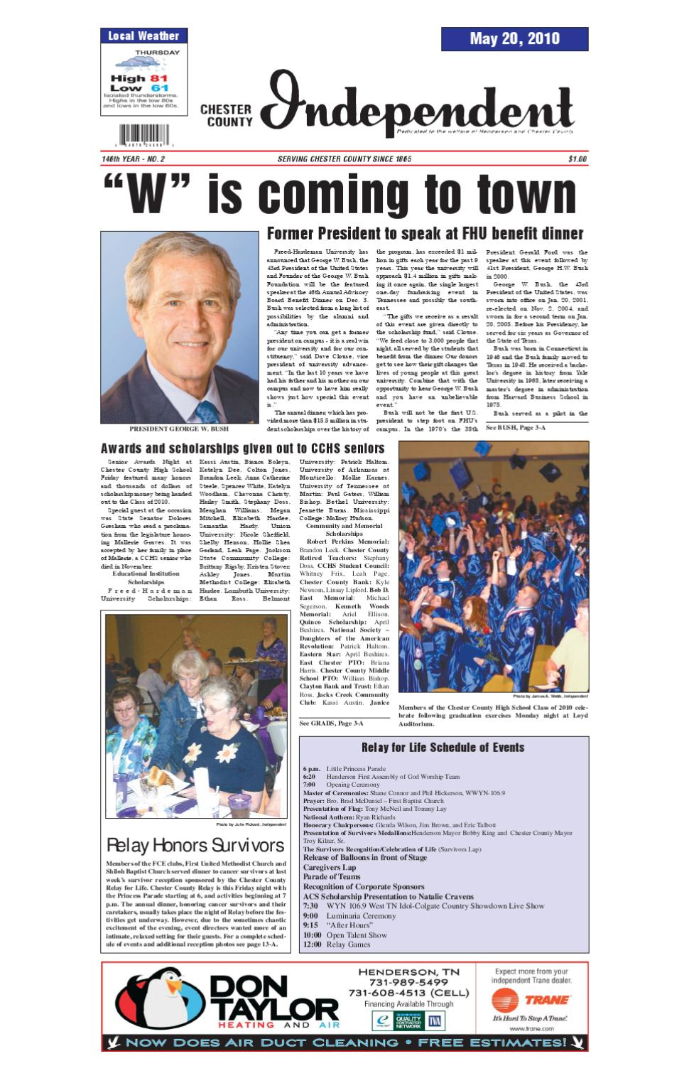 Tennessee chester county enville - Chester County Independent 05 20 10 By Chester County Independent Issuu