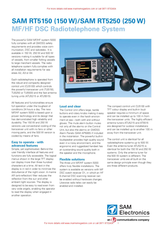 Sam Electronics Mf Hf Radio For Ships With Dsc By Marine Mega Antenna Tuning Unit Store Ltd Issuu