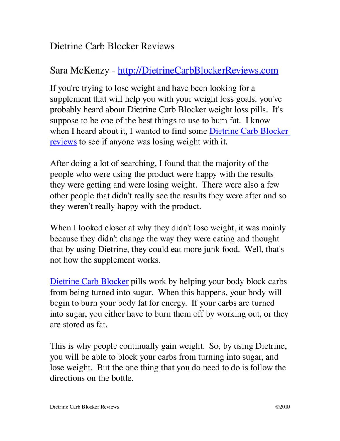 Dietrine Carb Blocker Reviews By Sara Mckenzy Issuu
