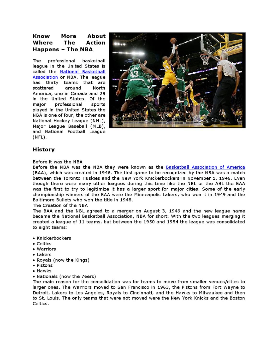 Know More About Where The Action Happens The Nba By Jerry Gaitan