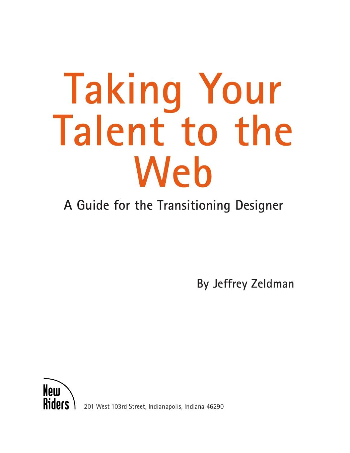 Taking your talent to the web by Steven Roesbeke - issuu