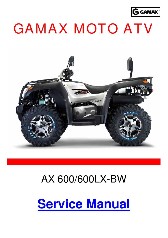 GAMAX ATV, Τεχνικό Εγχειρίδιο των AX600/600Lx-BW by Makis Keisoglou - issuu
