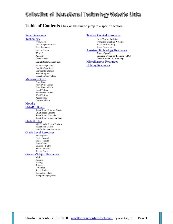 Website Resources 52410 by Charlie Carpenter - issuu