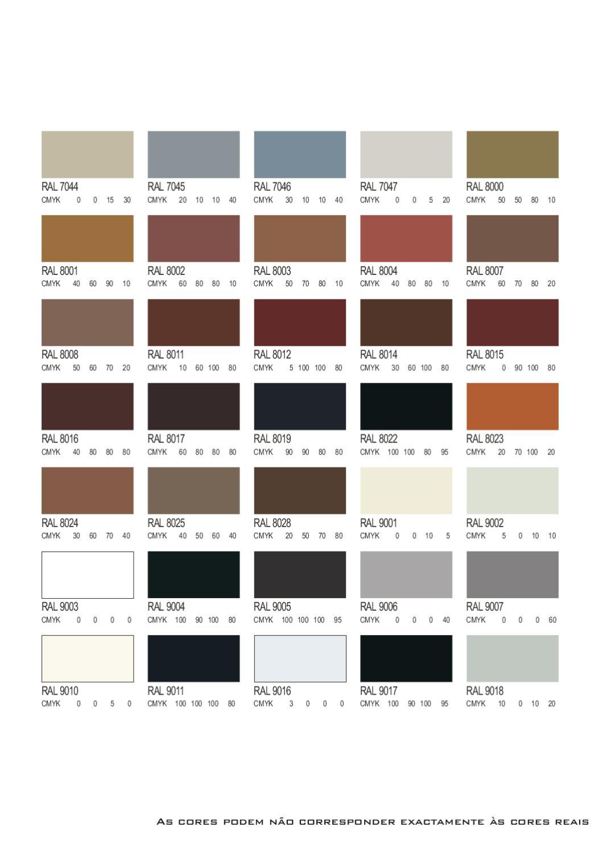 paleta ral cmyk by alexandre yamamoto issuu. Black Bedroom Furniture Sets. Home Design Ideas