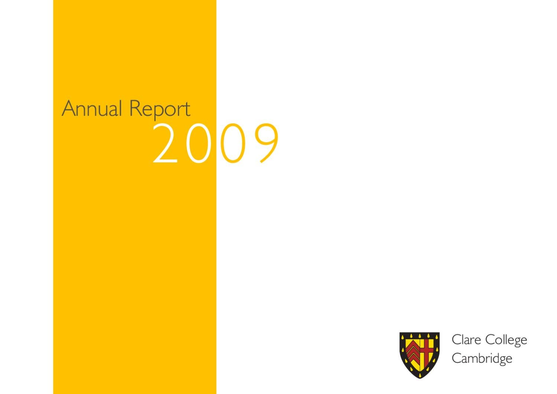 Clare College Annual Report 2009 by Clare College - issuu