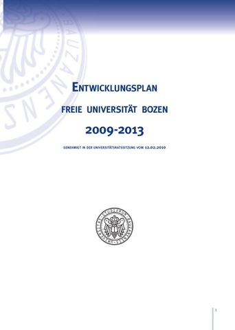 Freie Universität Bozen - Entwicklungsplan by UniversityLibrary ...