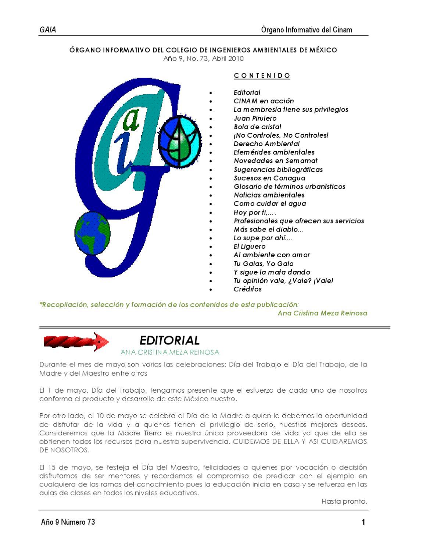 GAIA 73 by Efrain Sanchez - issuu