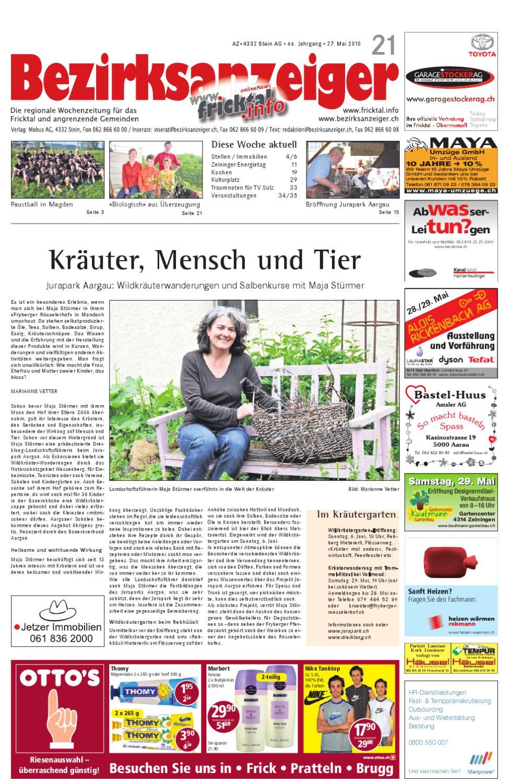 Bezirksanzeiger 2010 21 by Mobus AG - issuu
