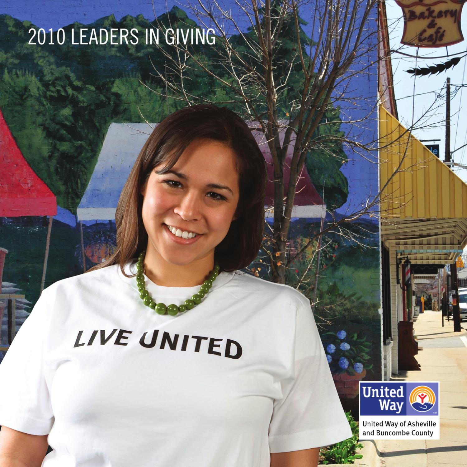 e97fb06e93f9 Leadership Giving 2009 by United Way of Asheville and Buncombe ...