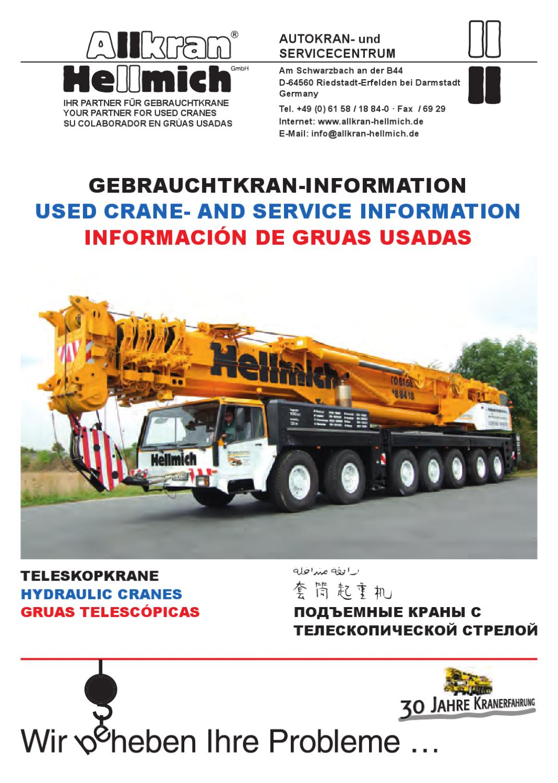 Gebrauchtkran Katalog Mai/Juni 9 by Gunnar Heinrich   issuu