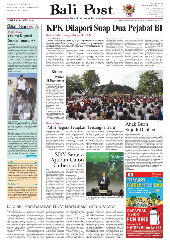 Edisi 29 Mei 2010 Balipost Com By E Paper Kmb Issuu