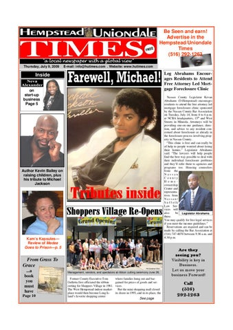 HUT 12 Pages July 9 issue[1] by 100 Black Men of Long Island, Inc