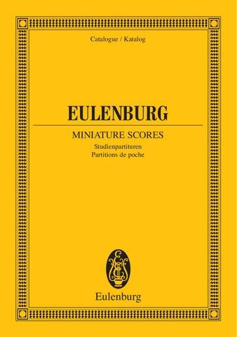 12: Study Score Op String Quartet No 1 in E-flat Major
