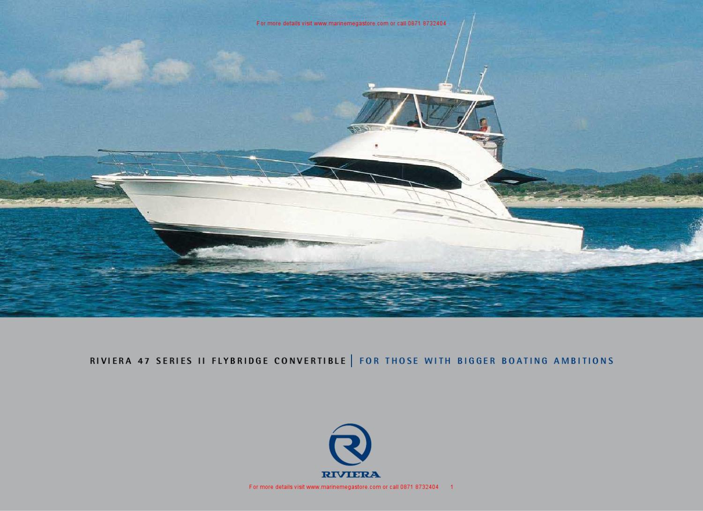 luxuriose innenausstattung yacht vive la vie, riviera - 47 flybridge brochure by marine mega store ltd - issuu, Design ideen