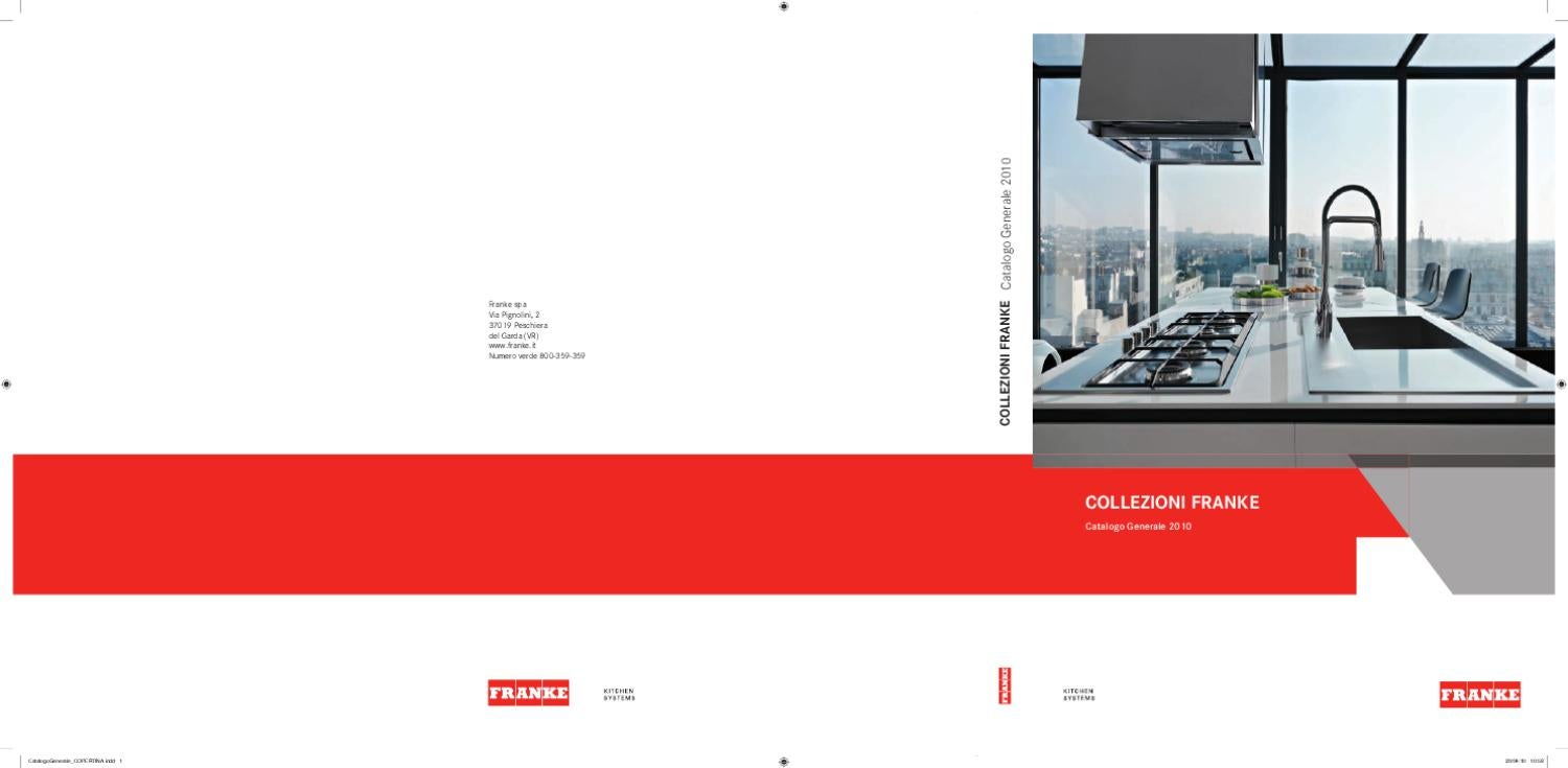 Franke Catalogo Generale 2010 by Remedia srl - issuu