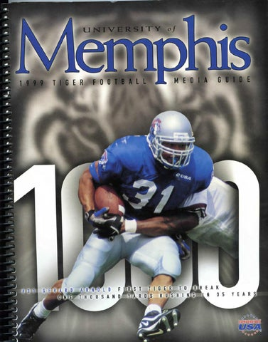 1999 Memphis Football Media Guide By University Of Athletic