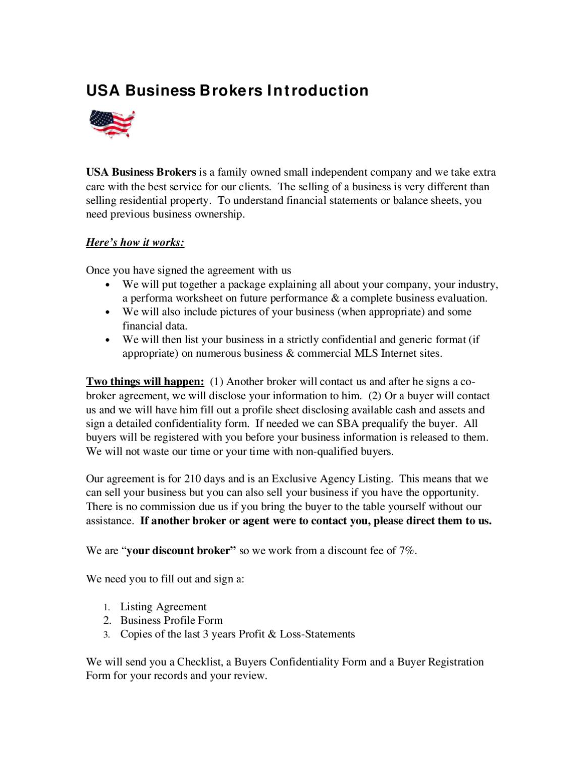Introduction To Usa Business Brokers By Usa Business Brokers Inc