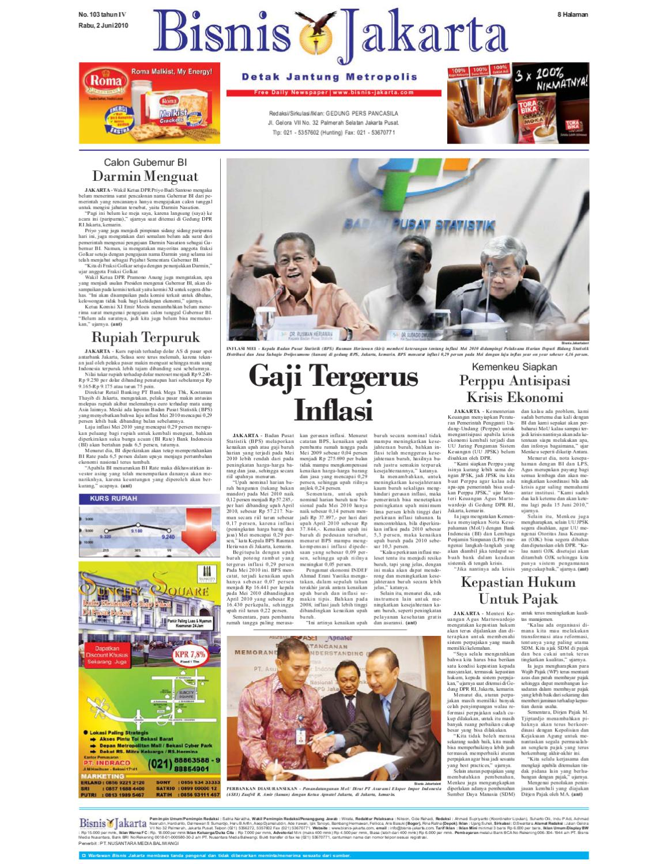 Bisnis Jakarta Rabu 02 Juni 2010 By E Paper Kmb Issuu Produk Ukm Bumn Keset Our House