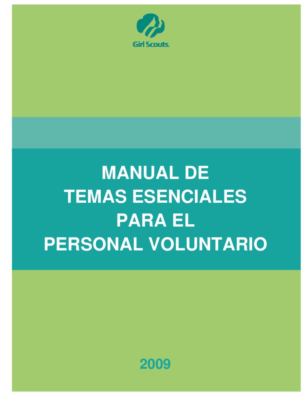 Manual de Temas Esenciales Para Voluntarios by GSCNC - issuu