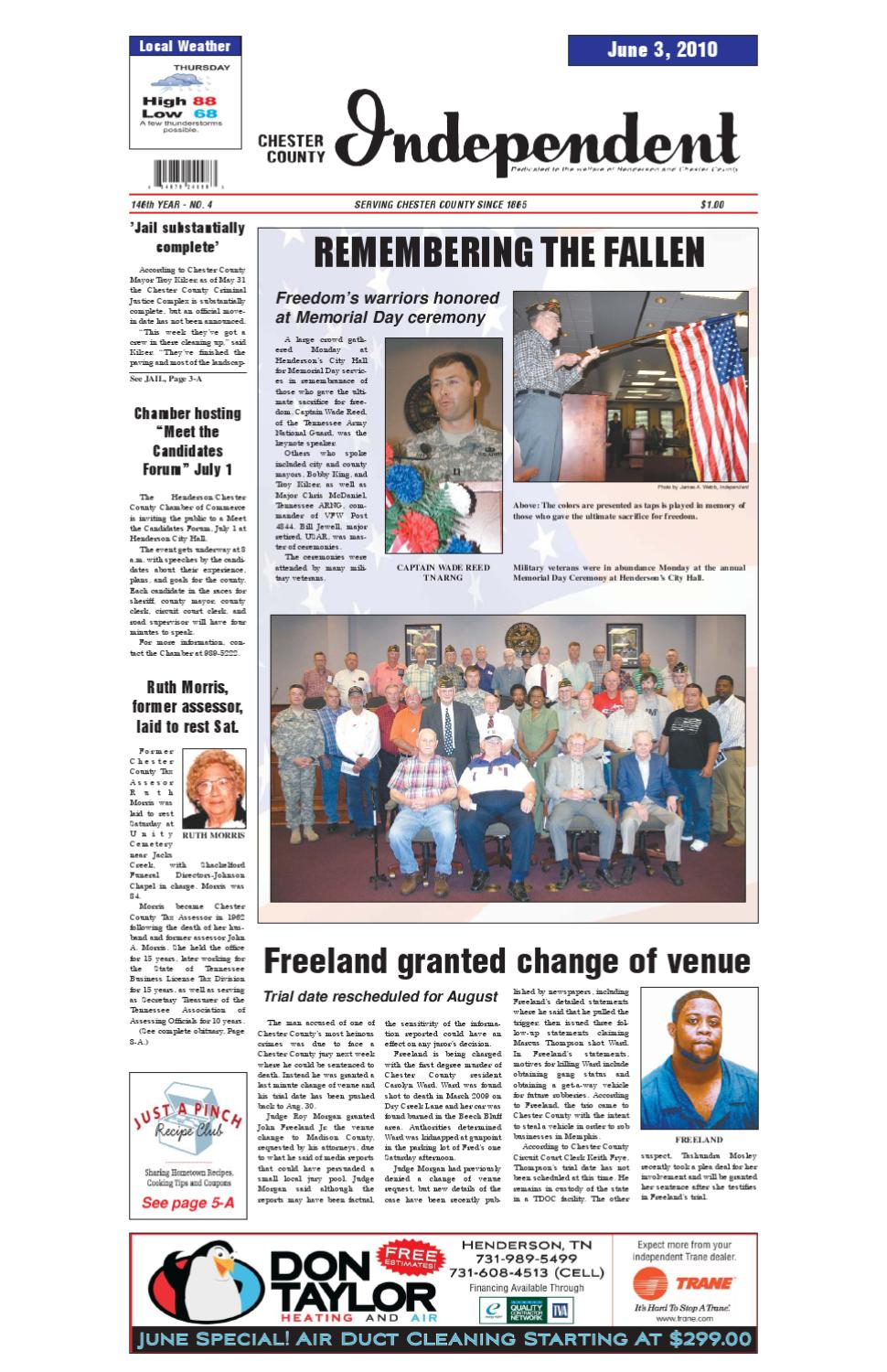 Tennessee chester county enville - Chester County Independent 06 03 2010 Issue By Chester County Independent Issuu