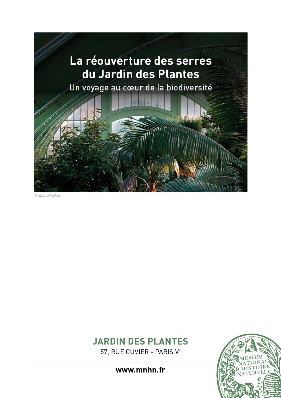 R ouverture serres jardin des plantes by frank druet issuu - Jardin des plantes angers horaires ...