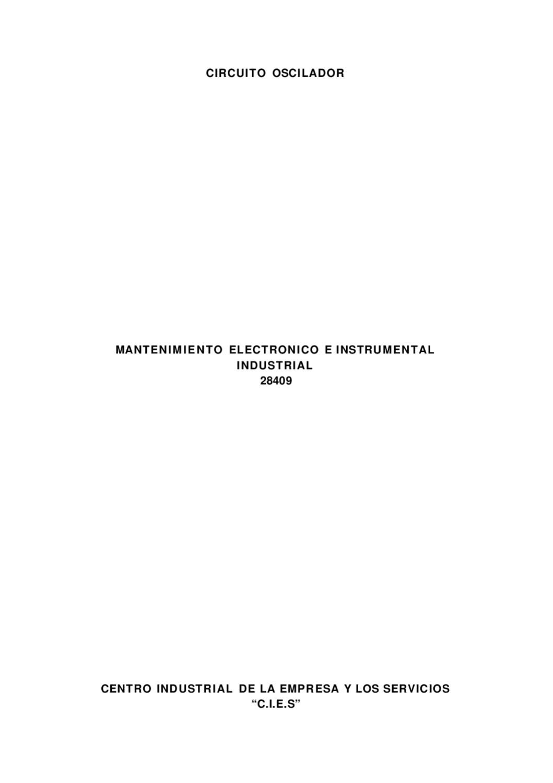Circuito Oscilador : Circuitos oscilador by alexis blanco issuu