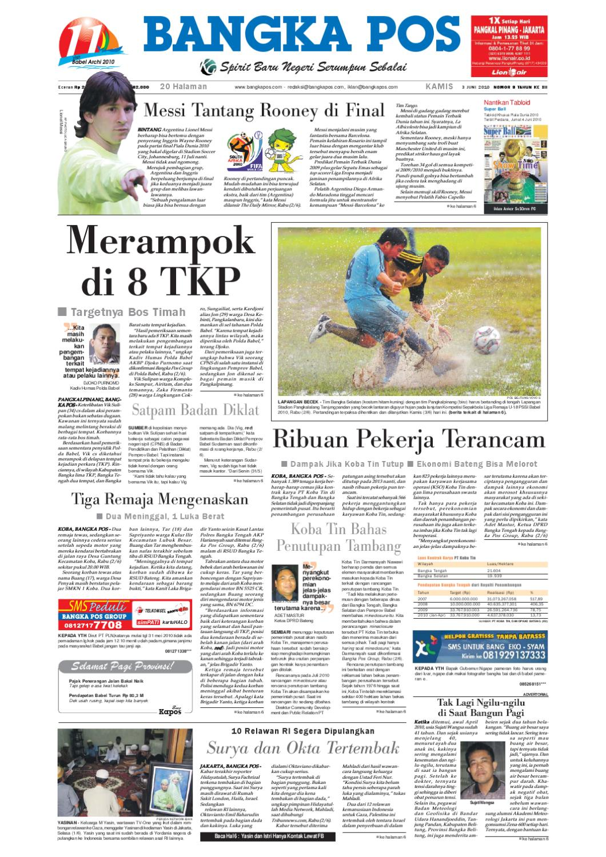 Harian Pagi Bangka Pos Edisi 03 Juni 2010 By Issuu Tcash Kartini Steam Wallet Sea 10
