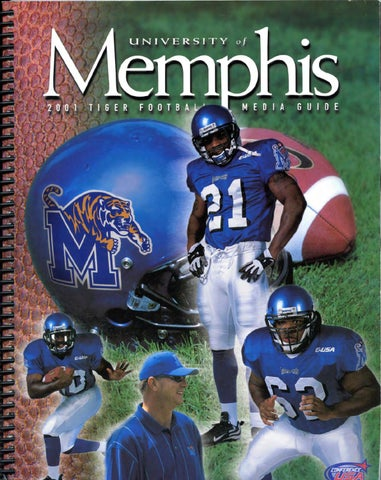 2001 Memphis Football Media Guide by University of Memphis Athletic ... 971623d30