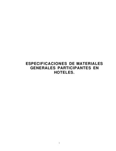 especificaciones hoteles by charlie brown - issuu