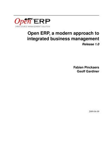 Manual OpenERP by Sander De Kegel - issuu