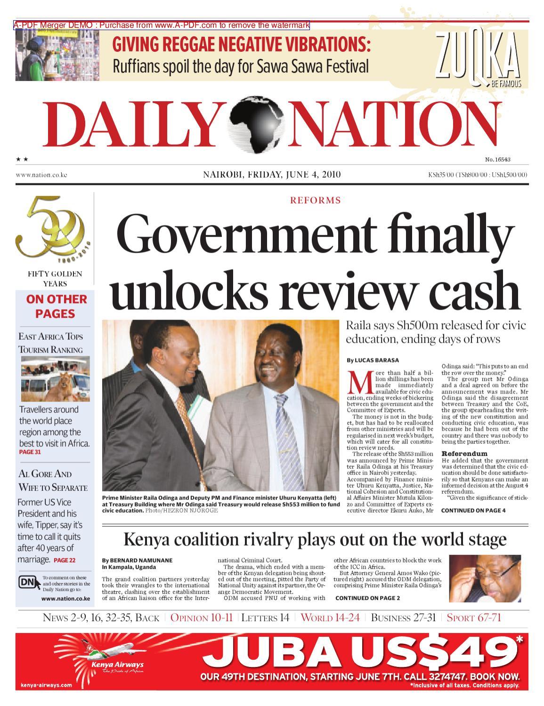 The Nation 4th June 2010 By Emmanuel Kitonyo Issuu