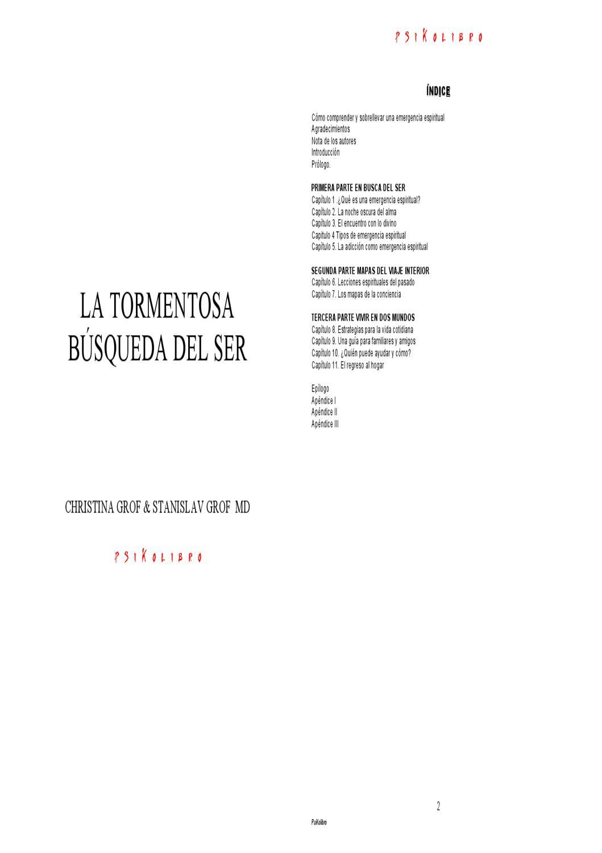 Cristin Grof & Stanislav Grof - La Tormentosa Búsqueda del Ser by Guillermo  Chura - issuu