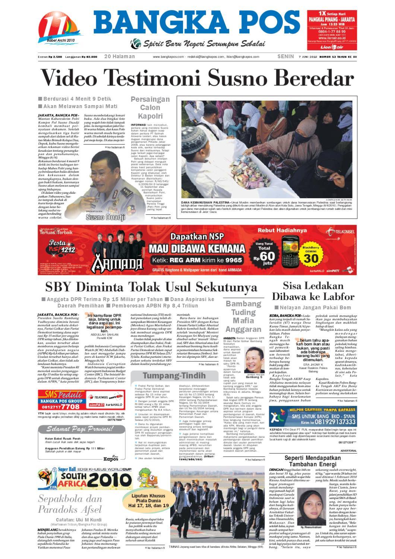 Harian Pagi Bangka Pos Edisi 07 Juni 2010 By Bangka Pos Issuu