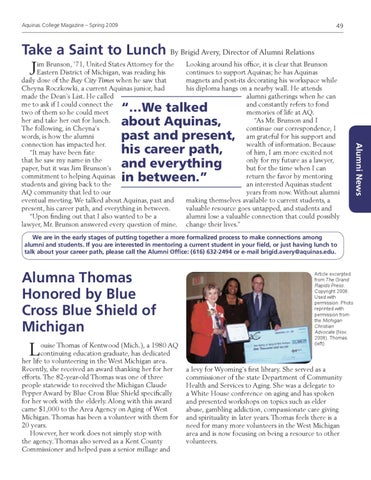 Aquinas Magazine :: Spring 2009 by Aquinas College - issuu