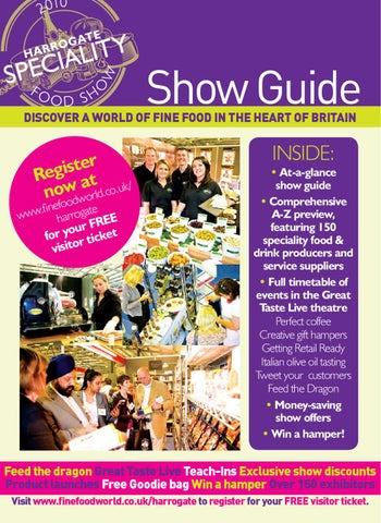 Harrogate Speciality Food Show By Guild Of Fine