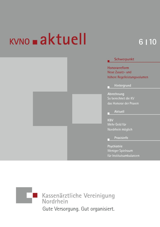 kvno aktuell 6 2010 by kv nordrhein issuu. Black Bedroom Furniture Sets. Home Design Ideas
