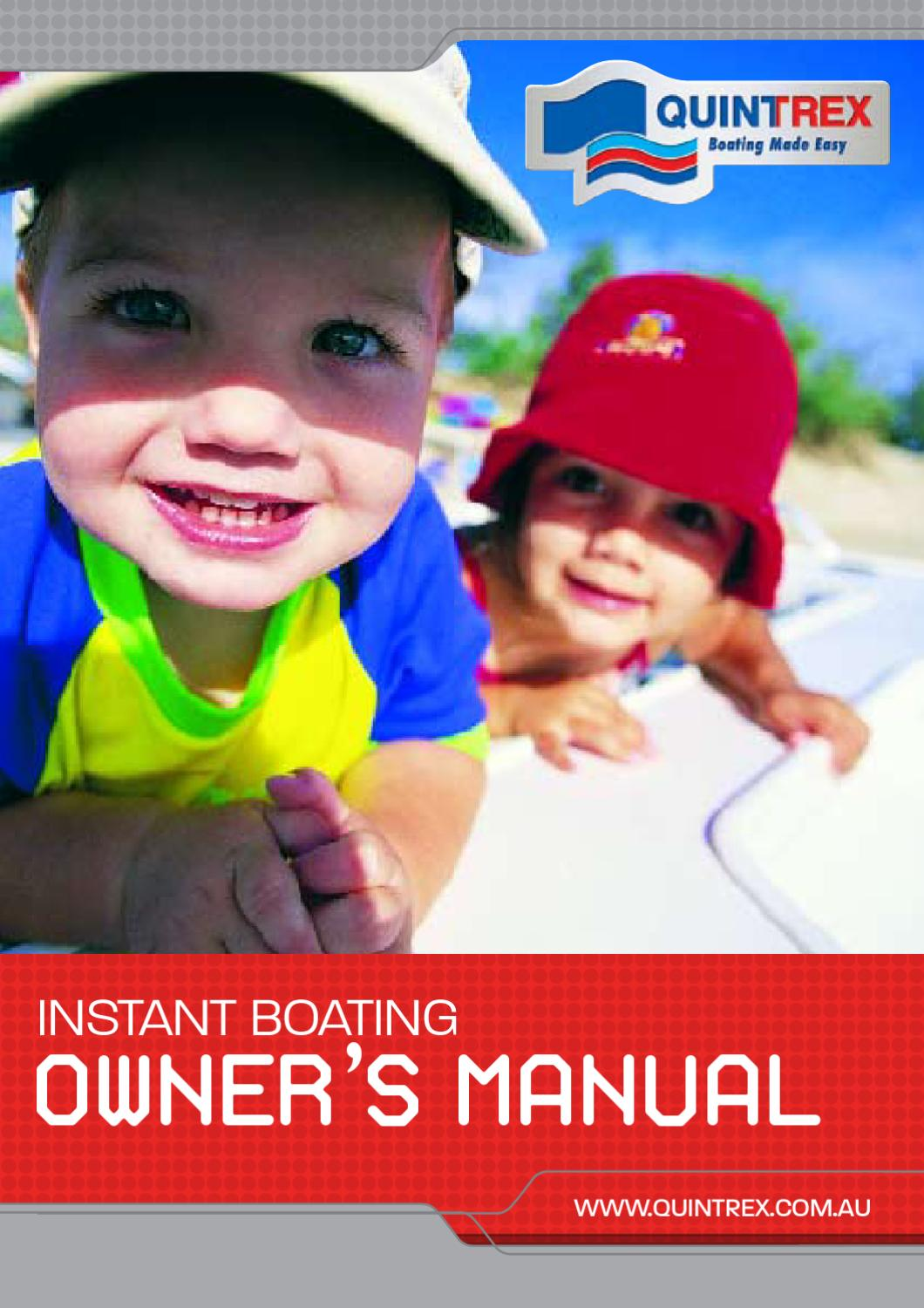 quintrex owners manual by myboatingshop com issuu Deer Feeder Wiring Diagram