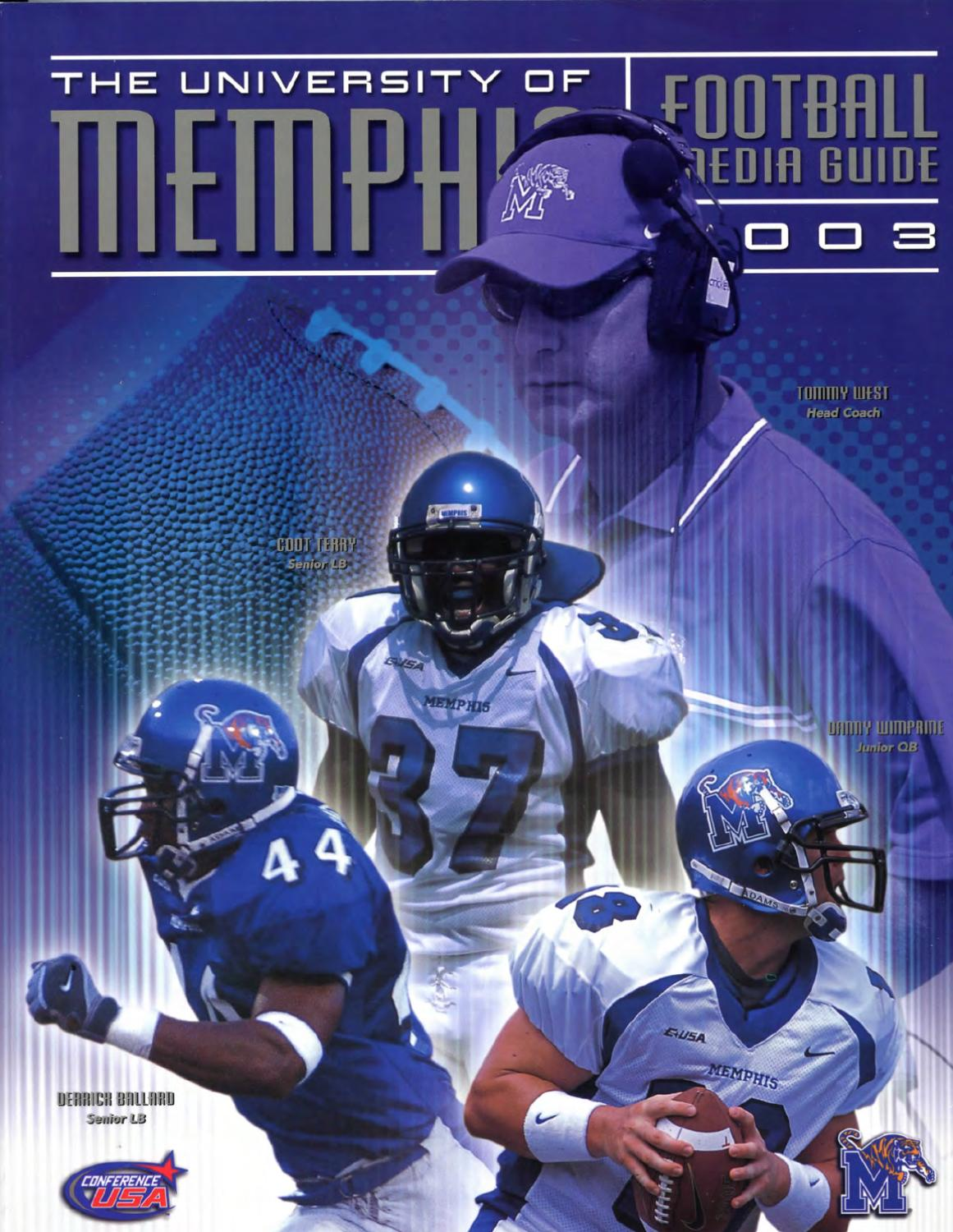 2003 Memphis Football Media Guide By University Of Memphis Athletic Media Relations Issuu