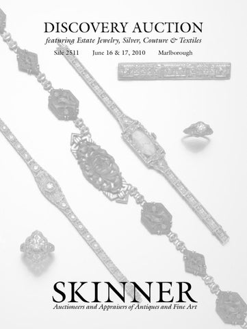 21da0db31 Discovery featuring Estate Jewelry, Silver, Couture & Textiles | Skinner  Auction 2511