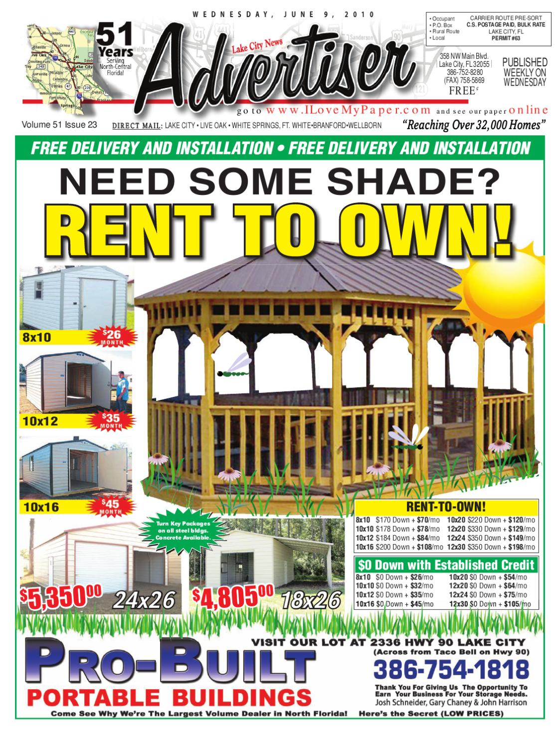 Newspaper Lake City Advertiser Volume 51 Issue 23 by SCBUSA
