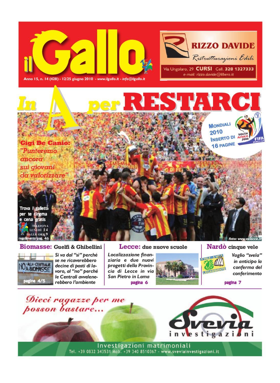 il Gallo - Num 14 - Ediz Nord Salento by Giornale ilGallo - issuu daec0148576