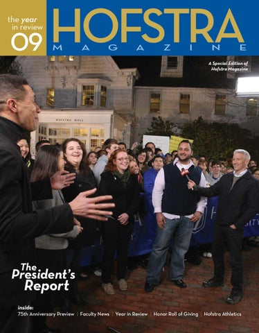 Hofstra Magazine  The Year in Review 2009  The President s Report by ... 40dbacc748a24