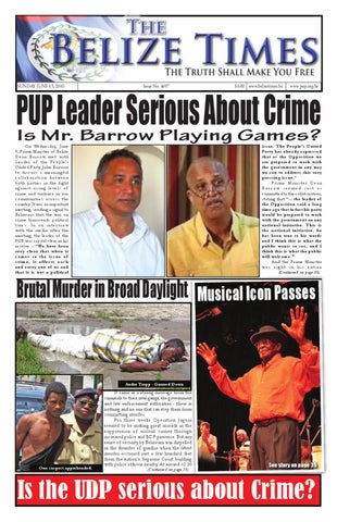 c65987eaa9ff5 Belize Times 100613 by Belize Times Press - issuu