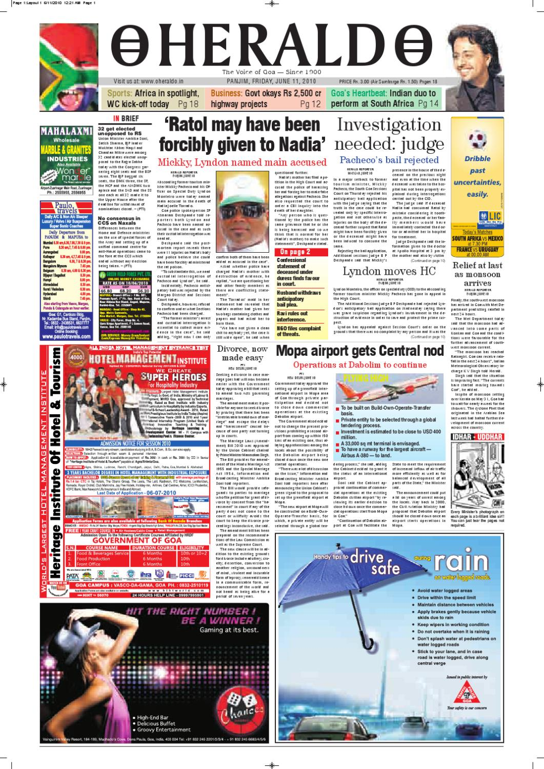 11 JUNE HERALD PUBLICATIONS PVT LTD by Herald Publications