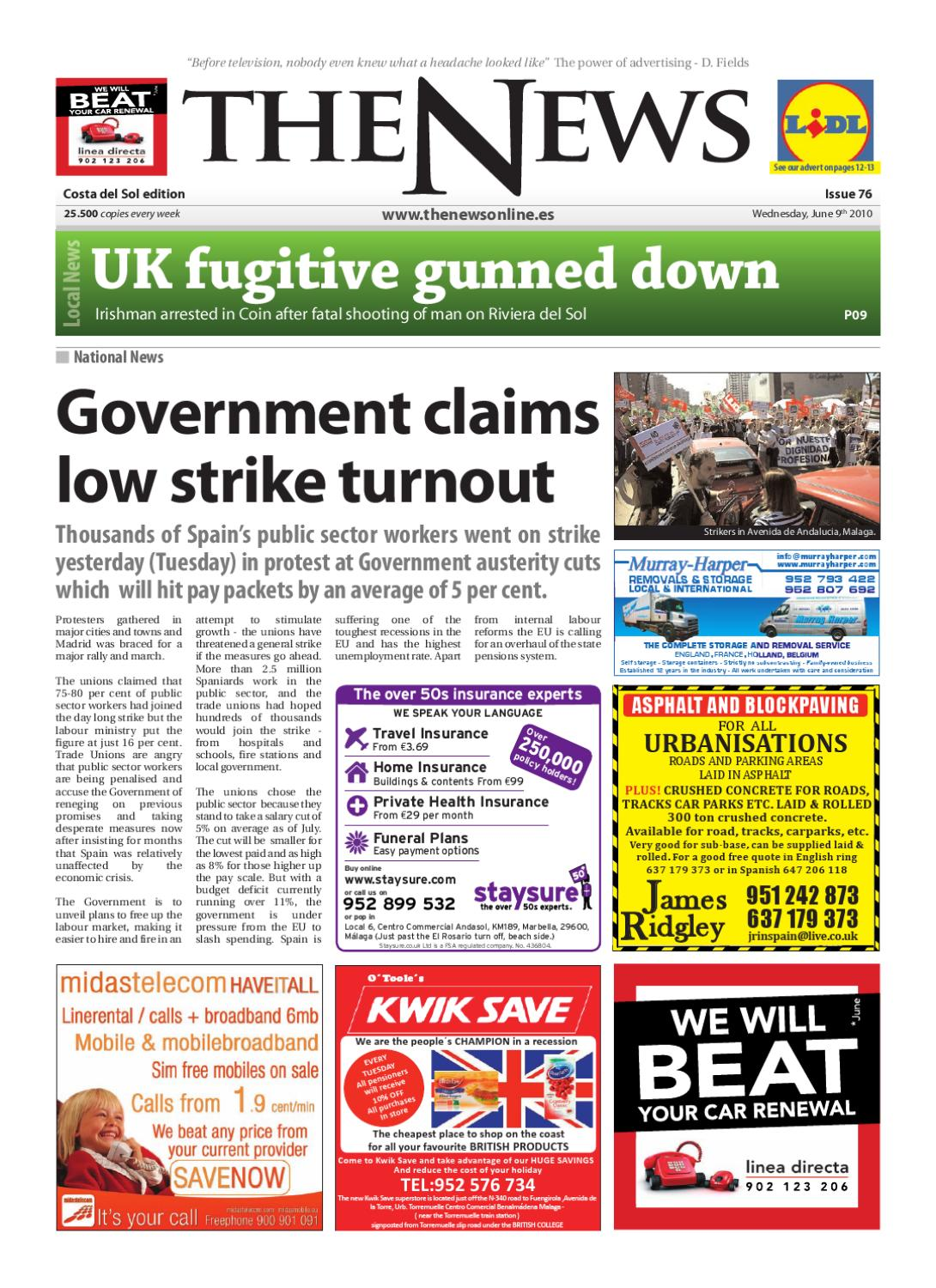 The news newspaper issue 076 june 9th 2010
