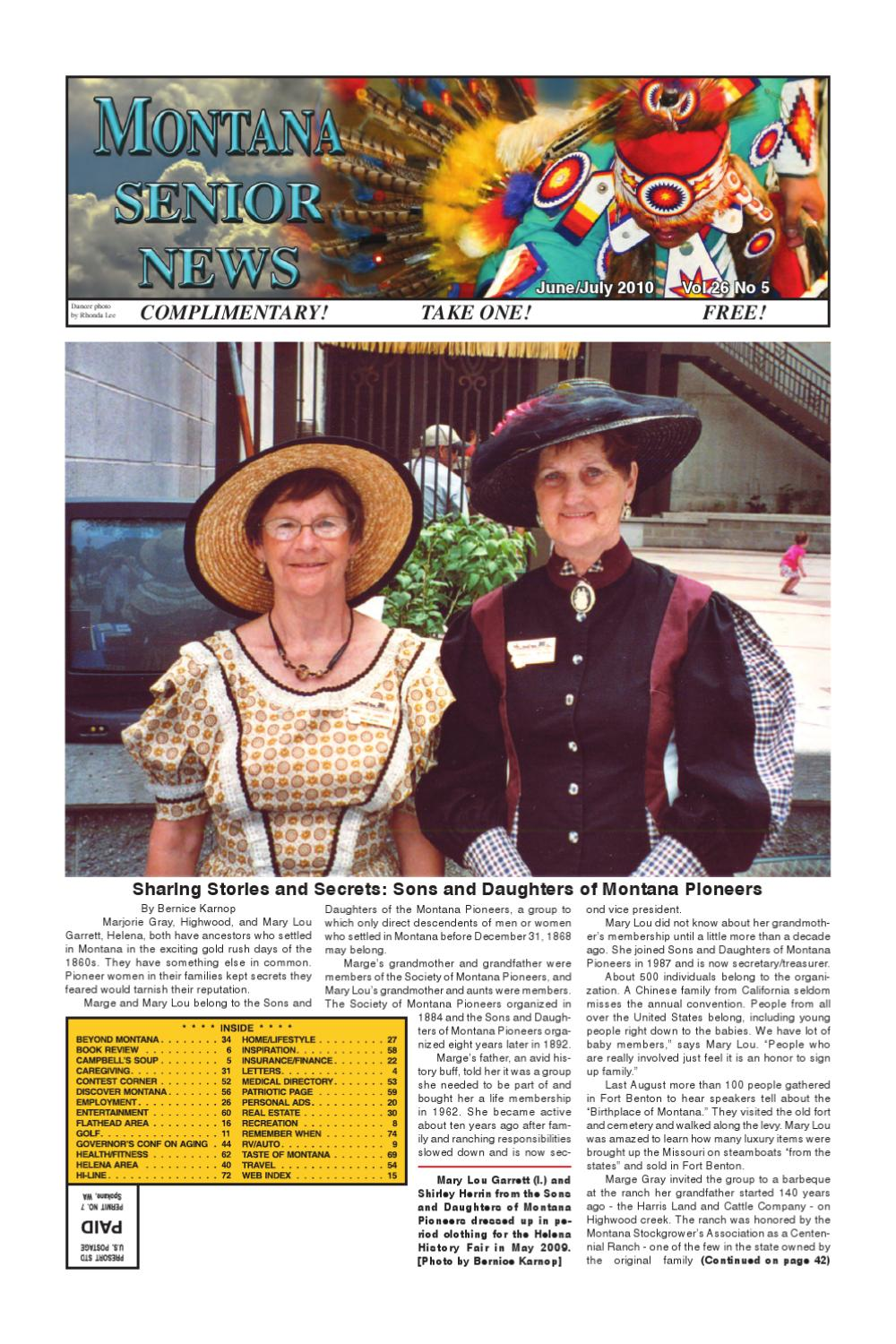 Montana Senior News June/July 2010 by Montana Senior News